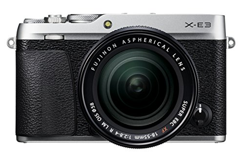 Fujifilm X-E3 - Cámara Evil de 24.3 MP y kit cuerpo con objetivo Fujinon XF 18-55 mm, color plata