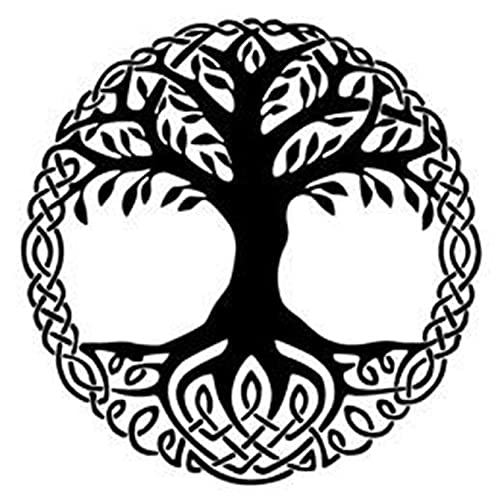 6 Sheets Temporary Fake Tattoos For Men Adults Yggdrasil the Tree of Life Vikings Symbol Odin Temporary Fake Tattoo For Women Neck Arm Chest For Woman 3.7 X 3.7 Inch