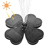 Fuente Solar Exterior,Fuentes para Jardín, Flotante Bomba de Fuente Solar con 7 Boquillas para Estanque, Baño para Pájaros, Piscina
