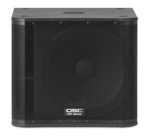 QSC KW181 1000 W Subwoofer (1000 W, aktiver Subwoofer, 34-143 Hz, 2000 W, 135 dB, 38000 Ohm)