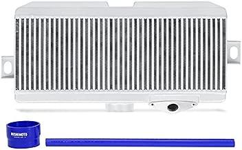 Mishimoto MMTMIC-STI-08SLBL Subaru WRX STI Performance Top-Mount Intercooler Kit, Silver Cooler Blue Hoses, 2008-2014