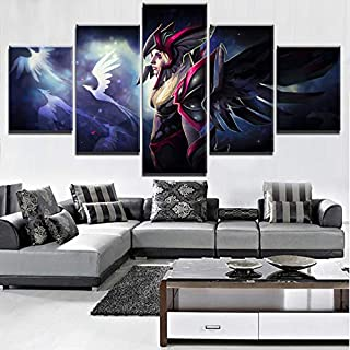 Canvas Picture Hd Home Decoration Canvas 5 Pieces Vengeful Spirit Painting Game Pictures Wall Art Prints Modular Modern Po...