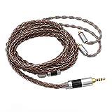 TRIPOWIN C8 8-Core Silver Copper Foil Braided Earphone Upgrade Cable for UE900s SE215 SE425 TIN Audio T2 T3 BGVP Earphones (2.5mm Plug, MMCX Connector)