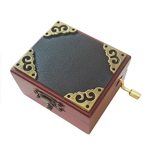 FnLy Caja Musical de Madera con 18 Notas de Encaje, Caja de Regalo de música, Caja de música con Tema de la Bella y la Bestia