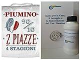 Smartsupershop Piumino Naturale d' Oca Matrimoniale 4 Stagioni (2 Piumini) 90% Piumino D'Oca 10% Piume D'Oca Naturale - in Omaggio Detergente per Piumoni - Affarone