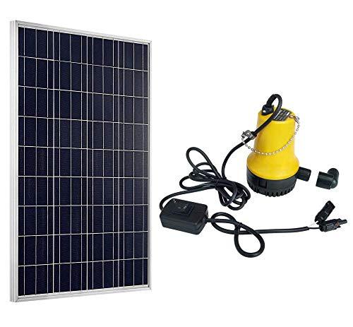 DCHOUSE 100 W 12 V polycristallin PV Panneau solaire W/DC 12 V Pompe à eau solaire pour bassin d'arrosage à laver de voiture