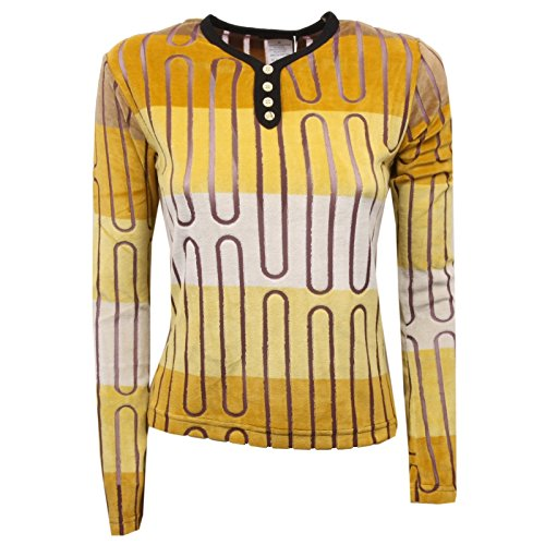 C8618 maglia donna CUSTO BARCELONA marrone brown t-shirt woman