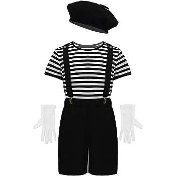 iiniim 4pcs Disfraz de Artista Francés para Niño Traje Infantil de ...