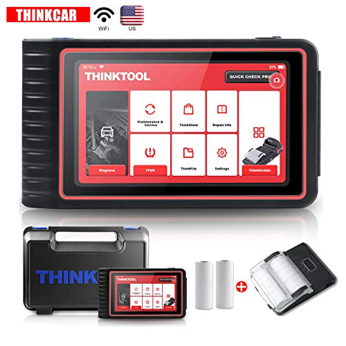 thinkcar ThinkTool All Systems Car Diagnostic Tool with 7'' Touch Screen, Auto Scanner OBD2 Scanner Code Reader EPB BMS TPS SAS, Car Diagnostic Scan Tool,16 Reset Functions, 37 Free Car Softwares
