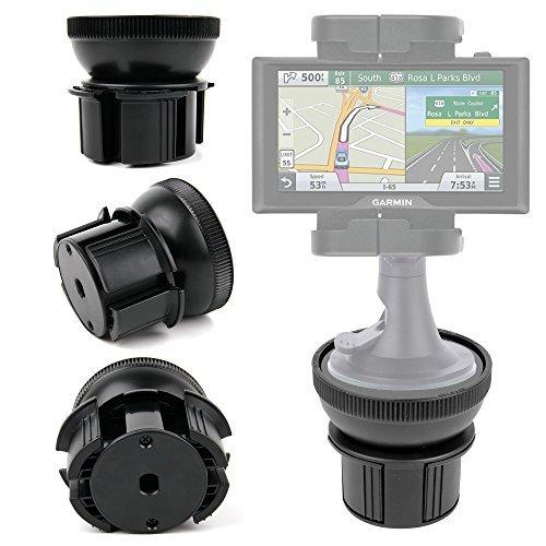 DURAGADGET Support Fixation Porte-gobelet Voiture - Base Ajustable - pour GPS Takara GP75, Garmin Drive 50, Drive 60LMT, DriveAssist 50LMT
