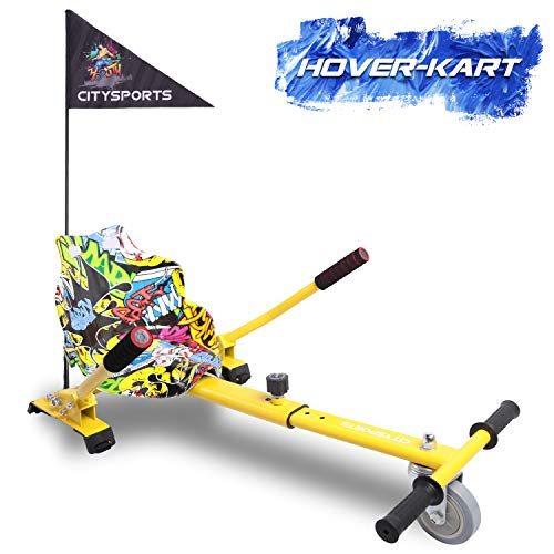 GeekMe Hoverkart, Silla de Scooter Self Balance, Asiento Kart se Adapta a Todos los tamaños patinetes, Regalo para niños.-KT CS (Hip)