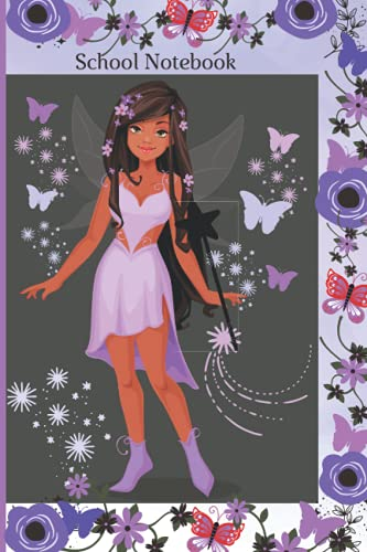 School Notebook: Fairy Collection- The Purple Fairy (Fairy Collection Notebooks)