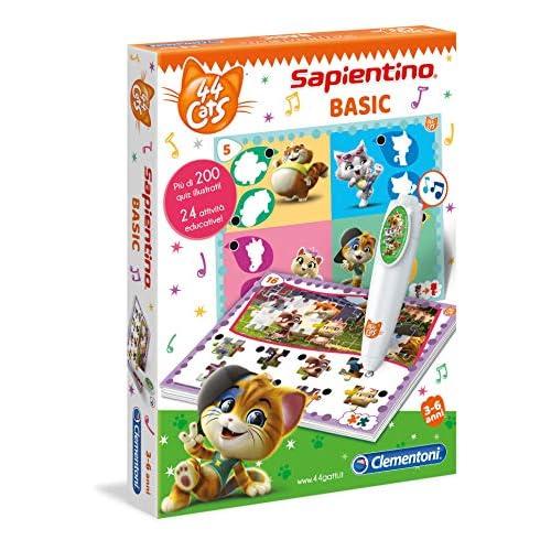 Clementoni - 16164 - Sapientino Penna Basic - 44 Gatti - gioco quiz con penna interattiva, gioco educativo 3 anni, elettronico parlante - Made in Italy, batterie incluse