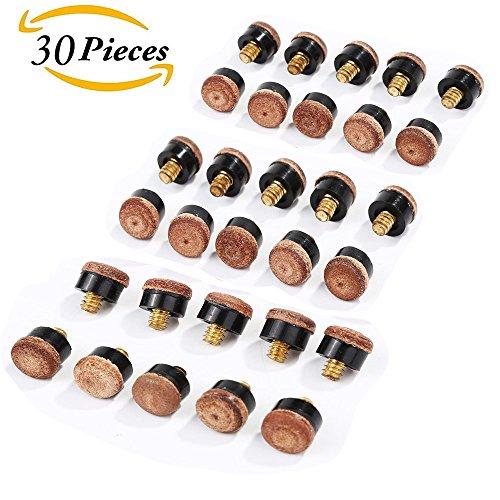 10 mm & 11 mm & 12 mm Schraubleder für Pool Snooker Billard Ersatzteile 30 Stück