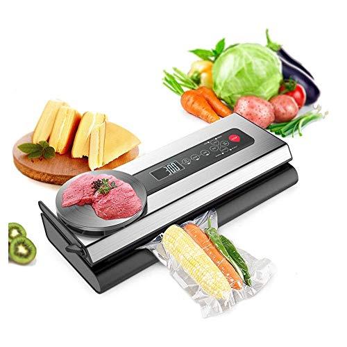 vakuumiergerät Lebensmittelkonservierung Maschine Vakuumierer Maschine mit Beutel Verpackung for Vakuum-Packer Verpackung Vacuum Lebensmittel Sealer Mit Skalen Einbau-Cutter for Wet & Dry Food Edelsta
