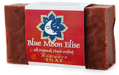 Blue Moon Elise Romance All Natural Bar Soap, Scented with Orange, Patchouli and Ylang Ylang Essential Oils, Made with Organic Ingredients, Handmade in the USA