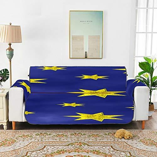 Star Sky Starry Sky Space Night Universe Fundas de Silla de sofá Azul para Sala de Estar Funda Deslizante para Silla reclinable Sofás Cojín para sofá de 45'(114 cm) Proteger de niños Perros Mascotas