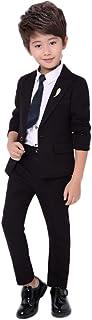 topmodelss 子供スーツ 子供服 フォーマルスーツ ジャケット ズボン ネクタイ3点セット無地 受験 面接 冠婚葬祭 七五三