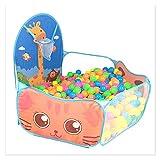 SONG Los niños juegan la Tienda, la Piscina de Bola de Dibujos Animados, la Carpa portátil para niños al Aire Libre, el Juguete Educativo Deportivo con la Cesta para los niños (Color : Blue)