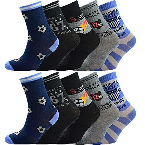 Unbekannt 10 Stück Jungen Socken Größe 24-39 (31-33)