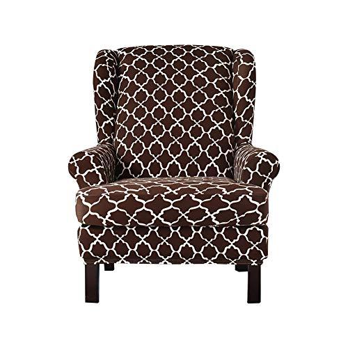 Chalkalon Ohrensessel Bezug Strecken Ohrensessel Schonbezüge Muster Gedruckt Abnehmbare Maschine Waschbar Elastische Sesselbezug Möbelbezug