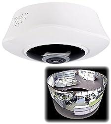 7links surveillance camera ceiling: 360 ° panorama IP surveillance camera with 2K resolution, WiFi, night vision (smoke detector camera)