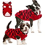 Dog Winter Coat Cold Weather British Plaid Dog Clothes for Small Medium Dogs,Warm Pet Dog Jacket with Detachable Hood and Soft Fleece Lining,Windproof Pet Vest Fuzzy Outwear (XS:Chest Girth=14.2')