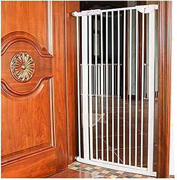 Mirui Sécurité Pression Fit Porte en métal Supports 80cm de Haut La Largeur Peut être choisie Parmi 71 à 180cm Porte bébé Pet Porte avec Les Extensions Disponibles (Color : High80cm, Size : 71-76CM)