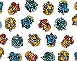 FS635_7 Harry Potter All Houses Crests Baumwollstoff Design