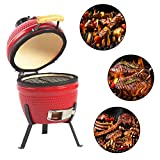 Aoxun 13' Kamado Grill, Roaster and Smoker. BBQ Grill,Multifunctional Ceramic Barbecue Grill, Egg...