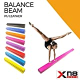 Xn8 Folding Gymnastics Balance Beam 7ft-8ft|Leather Tumble Mat for Kids-Gym-Home-Training-fitness