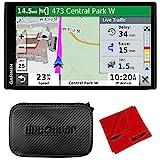 Garmin DriveSmart 65 & Traffic 6.95' Display GPS Navigator with 7' EVA Case Bundle