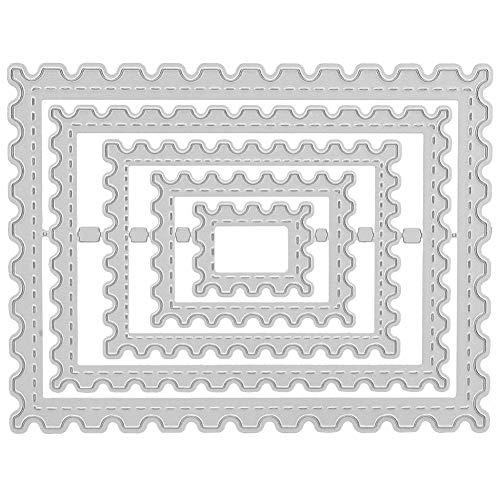 Forma de rectángulo de troqueles de corte, marco de rectángulo de vieira Plantillas de plantillas de troqueles de corte Grabado en relieve para tarjetas Scrapbooking Craft