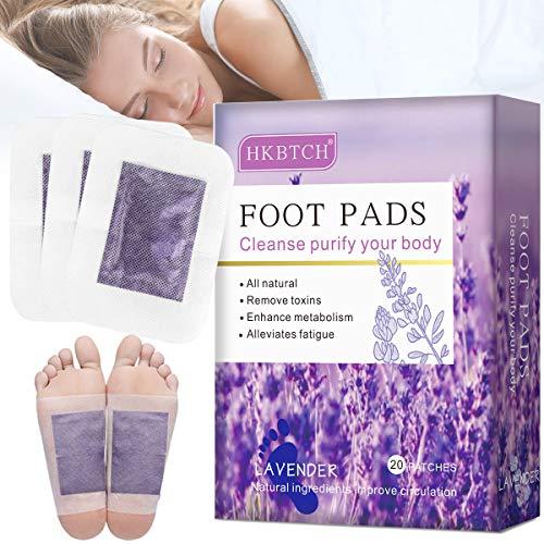 Detox Fußpflaster, Detox Pflaster Fuß, Lavendel Fusspflaster, Entgiftungspflaster Füße, Natürliche Detox Foot Pads zum Fördern die Durchblutung, Lindern Schmerzen und Verbessern den Schlaf, 20pcs