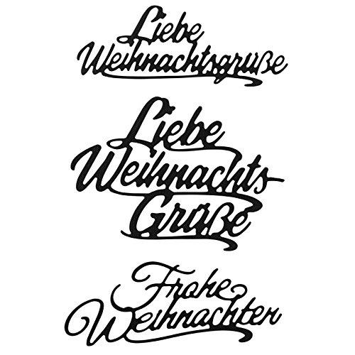 Stanzschablonen, Wünsche & Gratulationen 8, 3cm bis 8,1cm, 3 Stück | Schriftzüge, Schriften, Weihnachten | Schablonen zum Gestalten von Grußkarten, Geschenken und vieles mehr