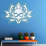 mlpnko Abnehmbarer Lotus Wandaufkleber Mandala Wandtattoo
