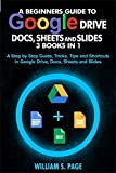 A BEGINNERS GUIDE TO GOOGLE DRIVE, DOCS, SHEETS AND SLIDES 3 BOOKS IN 1: A Step by Step Guide, Tricks, Tips and Shortcuts in Google Drive, Docs, Sheets and Slides (English Edition)