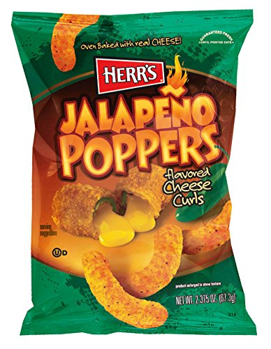Herr's Jalapeno Cheese Curls, 2.375 Ounce (Pack of 20)