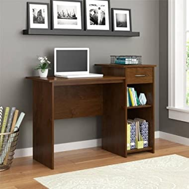 Adjustable Shelf and Easy-Glide Accessories Drawer Student Desk in North-field Alder