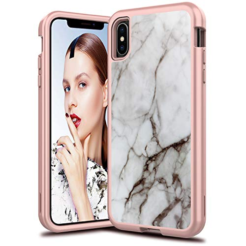 LEPTECH iPhone XR Heavy-Duty Marble Case