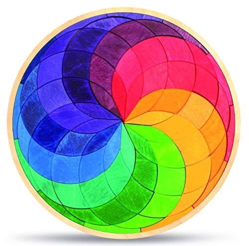 Grimms Jeu Et Bois Design Grimm's Cercle Spirale de couleur petit
