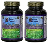Green Pasture BLUE ICE Royal Butter Oil / Fermented Cod Liver Oil Blend 120 CAPSULES (Pack of 2)