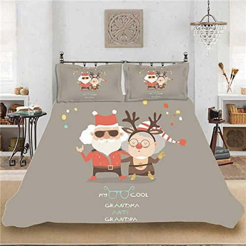 geek cook Bedding Set,Christmas series polyester fiber digital printing four-piece set-4_GB-Super King