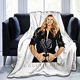 Lphdfoxh1 Celine Dion Housse de couette en flanelle Convient pour tous les canapés, bureaux, doux et confortable