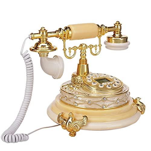 yuanyuanliu Teléfono Europeo Nuevo Antiguo Teléfono Antiguo Classic Landline Luxury Luxury Teléfono Retro (Color : Yellow)