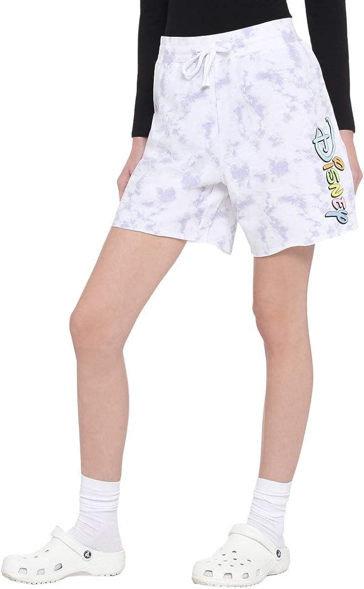 Disney Pastel Logo Tie-Dye Girls Lounge Shorts