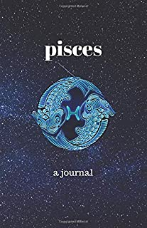 Pisces Journal: Portable, blank, college ruled journal.  Good for notes, diary, fitness, sketching and any tracking (5.5 inches x 8.5 inches 100 pages)