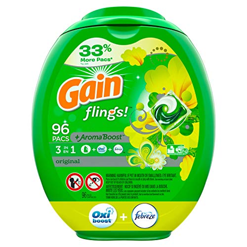 Gain flings! Laundry Detergent Pacs 81 Count Now $15.97