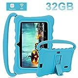 DUODUOGO Tablet para Niños 32GB, 7 Pulgadas Dual Camera Android 6.0 Funda de Silicona Little Bee Juegos Educativos Tableta - Bluetooth, GPS, OTG, WiFi, Youtube