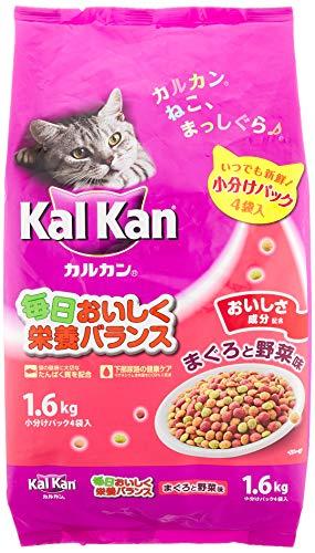 カルカン ドライ まぐろと野菜味 キャットフード 味 成猫用 1.6kg